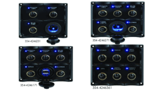Seadog Water Resistant Toggle Switch Panel