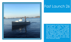 Fast Launch 26 Boat Plans (FL26)