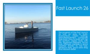 Fast Launch 26 Boat Plans (FL26)