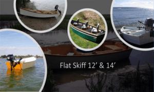Flat Skiff 14 Boat Plans (FL14)
