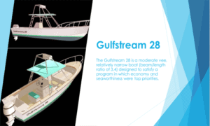 GulfStream 28 Boat Plans (GS28)