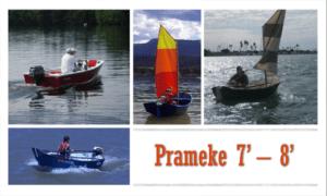 Prameke 7′-8′ Boat Plans (PK78)