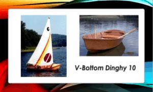 V-Bottom Dinghy 10 Boat Plans (V10)
