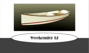 Weekender 12 Boat Plans (WE12)
