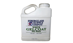 Gelcoat (No Wax), White, 1 Gallon